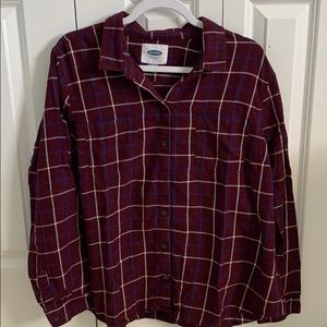 Old Navy button down plaid shirt